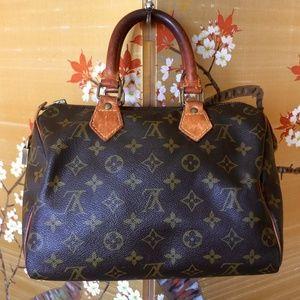 VINTAGE LOUIS VUITTON Monogram Speedy 30 Handbag